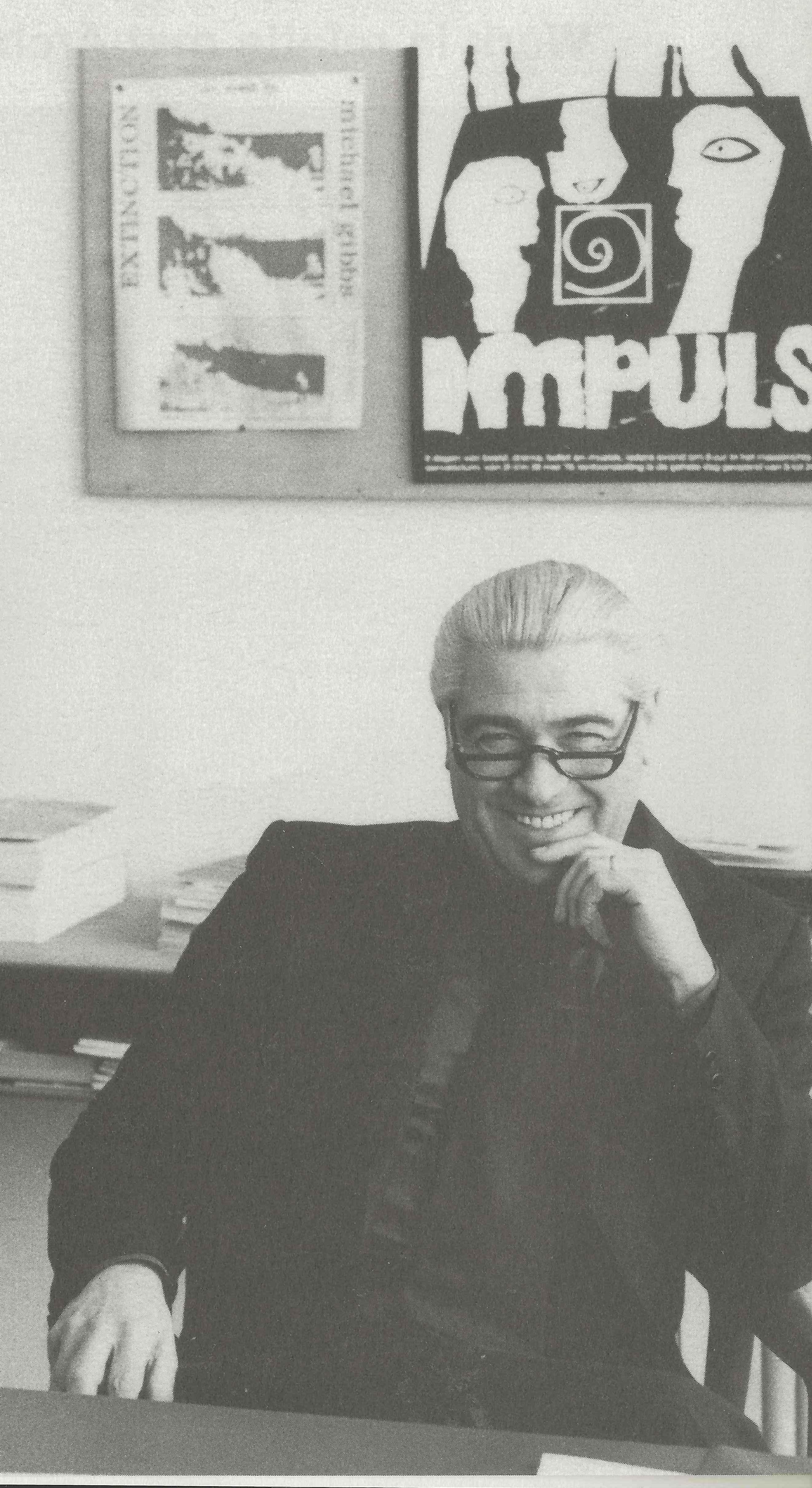 Albert in kantoor op Academie